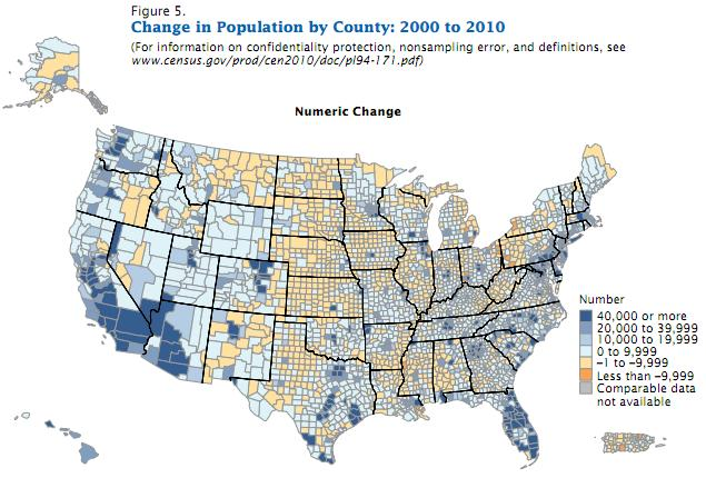 us population growth by county 2000 2010