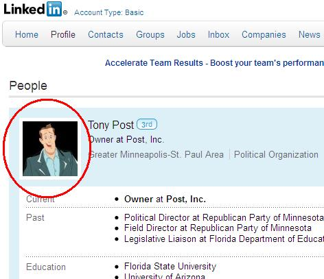 Online profile of new SDGOP exec Tony Post