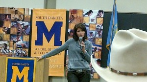 Rep. Kristi Noem (R-SD) speaks at a town hall meeting at the South Dakota School of Mines and Technology, Rapid City, SD, February 4, 2012