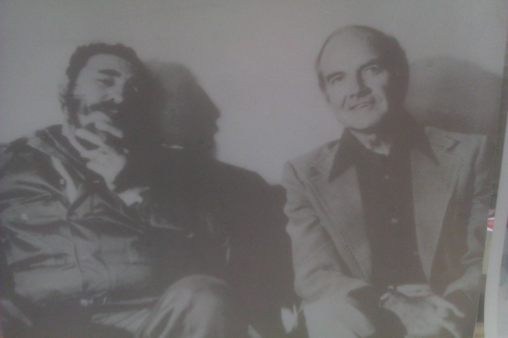 Fidel Castro and George McGovern, circa 1975