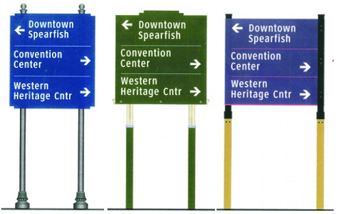 Spearfish signage options, presented to city council April 10, 2012, by Merje design firm