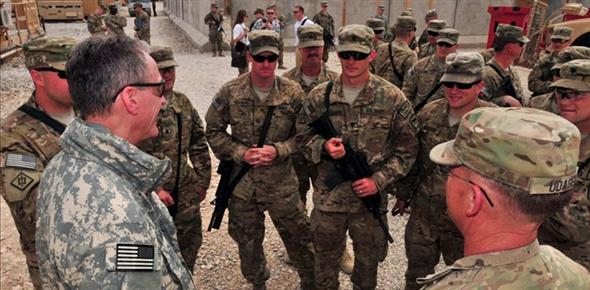 South Dakota Governor Dennis Daugaard visiting National Guard troops in Afghanistan, April 2012