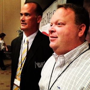 Senator Russell Olson and Secretary of State Jason Gant at SDGOP convention. Photo by Sen. Dan Lederman, June 2012