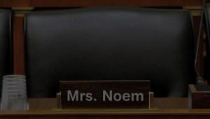 Kristi Noem's empty chair in House Ag