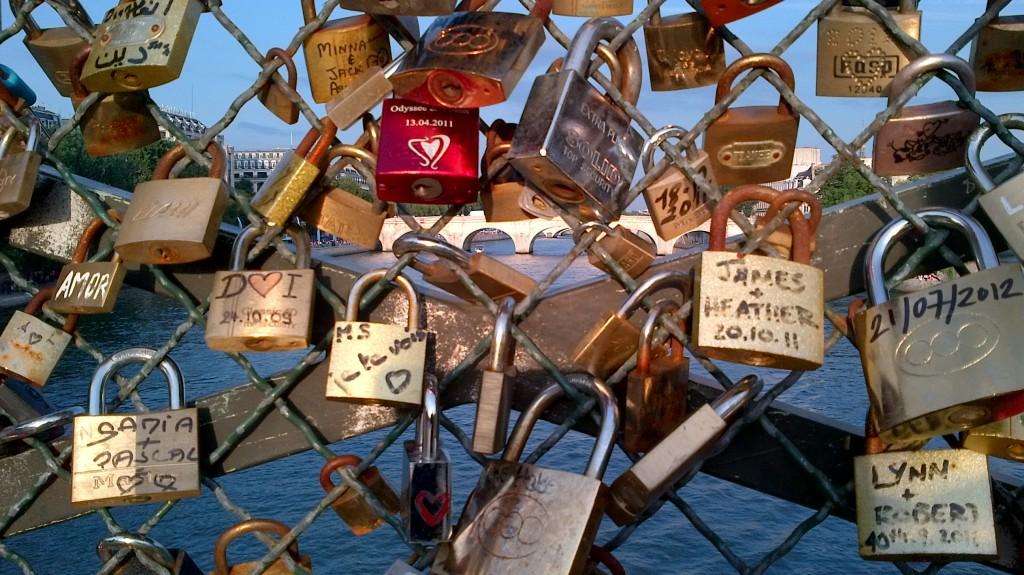 Locks on Pont des Arts, Paris, July 21, 2012