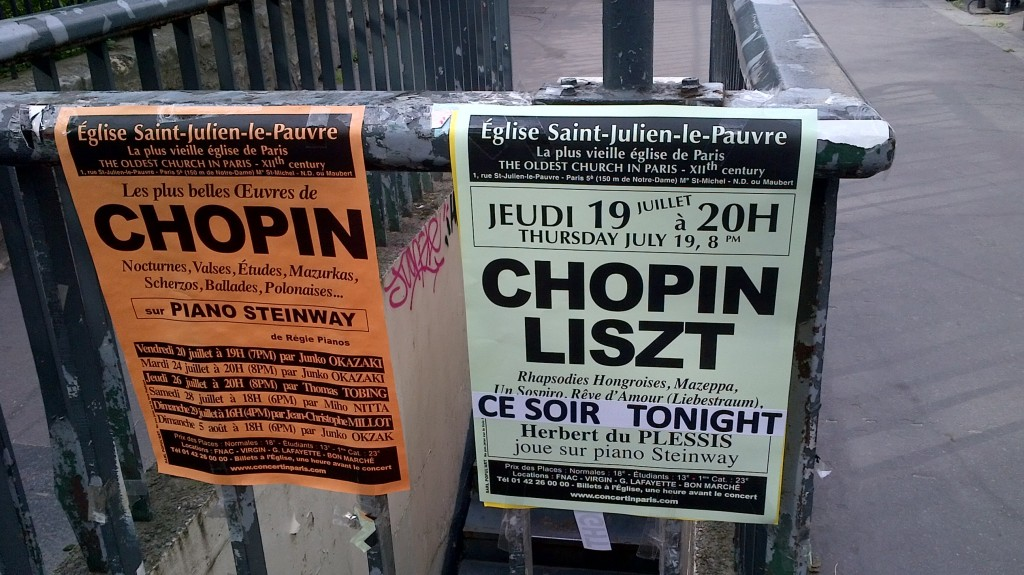 Poster for Chopin and Liszt
