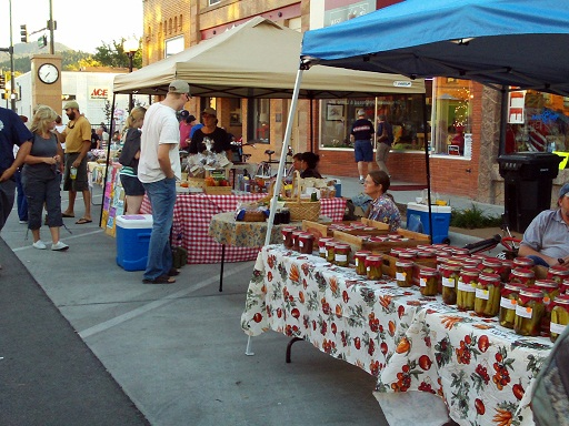 Farmers market items at Downtown Friday Night, Spearfish, South Dakota, August 17, 2012