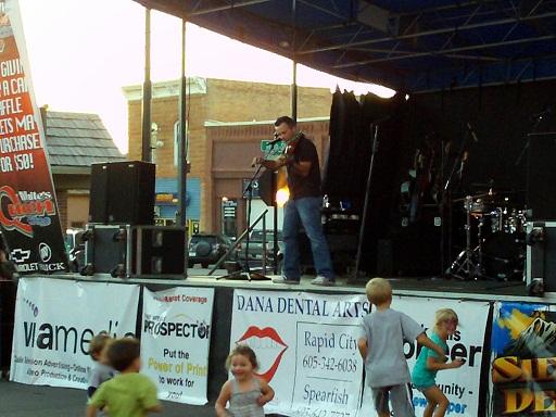 32 Below plays Downtown Friday Night, Spearfish, South Dakota, August 17, 2012