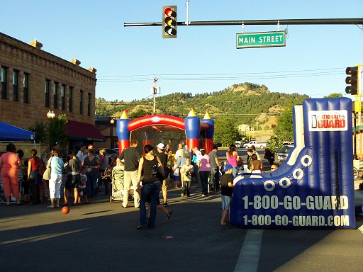 Inflatables at Spearfish Downtown Friday Night, August 17, 2012