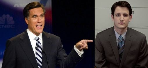 Mitt Romney picks Gabe Lewis from The Office as running mate.