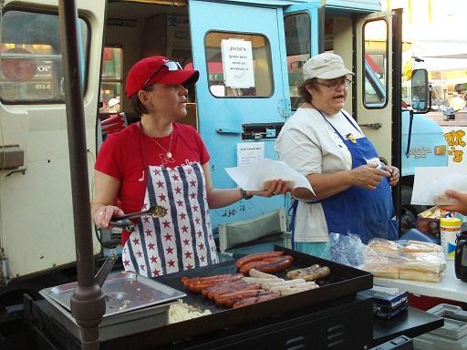 Joycie's Street Meats brings the Whitewood Wiener [sic] bus to Downtown Friday Night, Spearfish, South Dakota, August 17, 2012