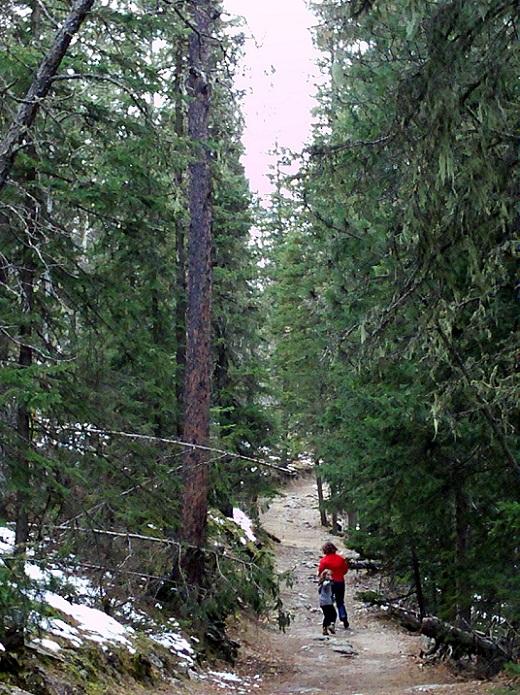 Trail 9 down from Harney Peak, Black Hills, South Dakota, Native American Day, 2012