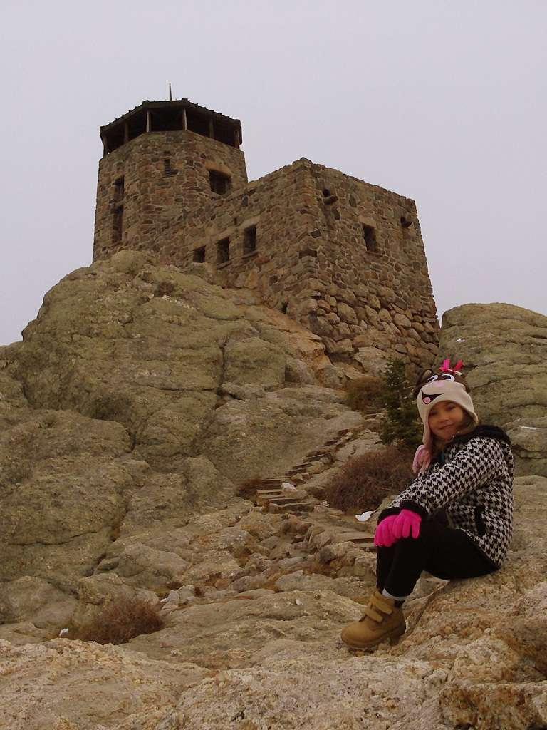 Harney Peak fire tower, constructed 1939; photo by CAH, 2012.10.08