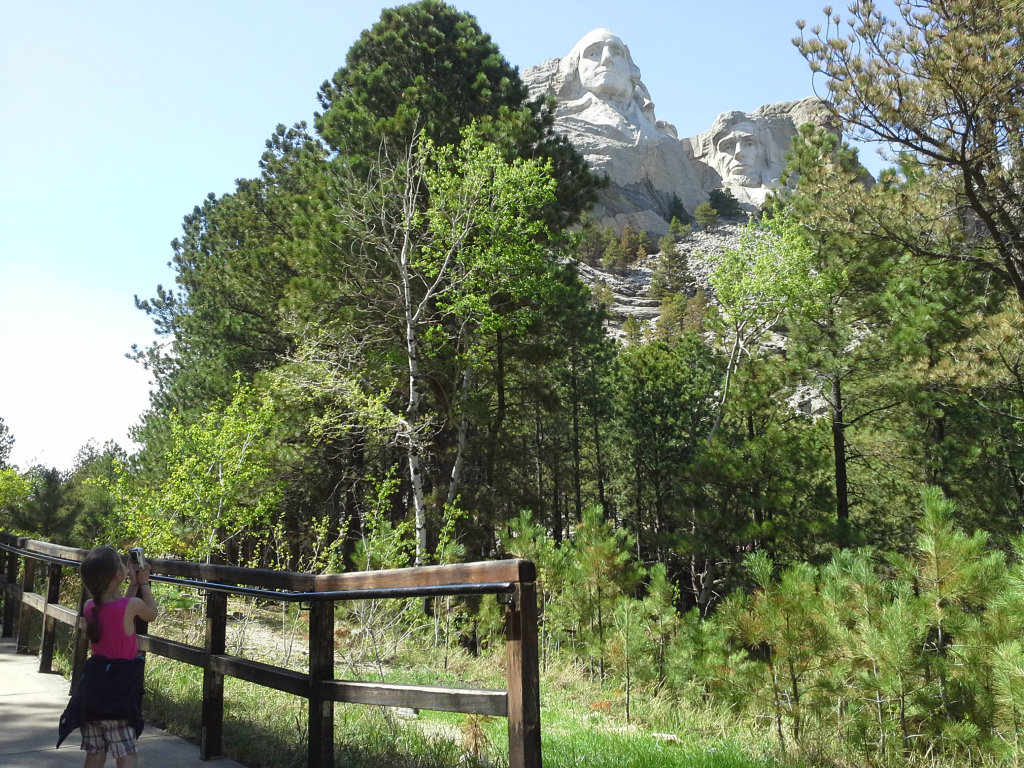 Mount Rushmore from trail, May 26, 2013