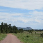 South rim of the Black Hills hogback comes into sight