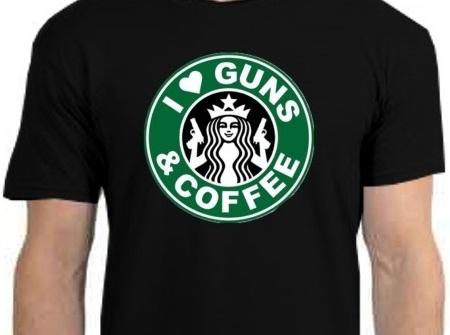 Starbucks Guns Coffee tshirt