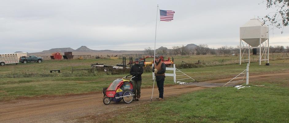 Rebecca Jane Rodriguez and Bret Clanton, Harding County, South Dakota, October 30, 2013. Photo credit: Bret Clanton.