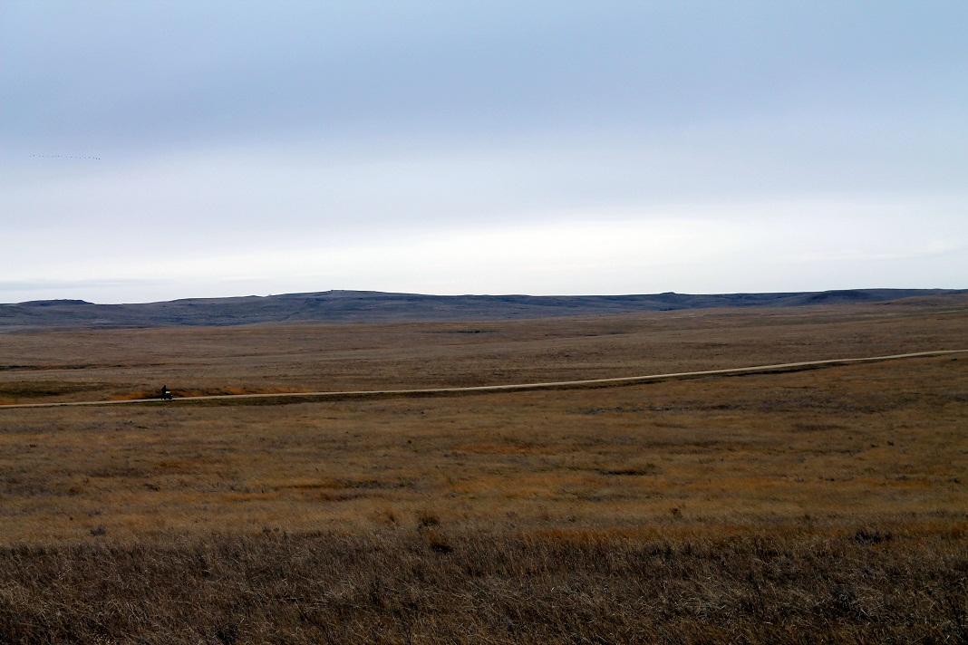Rebecca Jane Rodriguez on the Keystone XL route, Harding County, South Dakota, October 30, 2013. Photo credit: Bret Clanton.