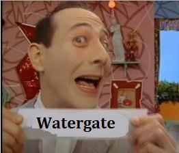 Pee-Wee Herman, Watergate