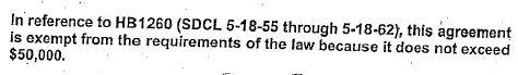 Excerpt from SDRC-DTSD contract, December 29, 2009