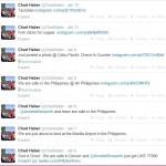 Chad Haber Tweets Janaury 6-12 2014