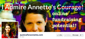 altered banner image from JusticeForAnnette Facebook page, 2014.06.29