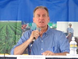 Republican Governor Dennis Daugaard, at Dakotafest debate, Mitchell, SD, 2014.08.20