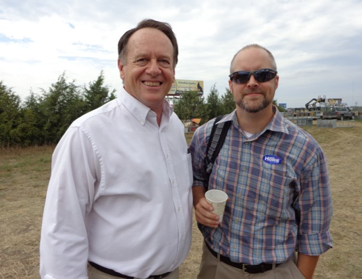 Gordon Howie, Independent candidate for U.S. Senate, and Nick Reid, campaign manager.
