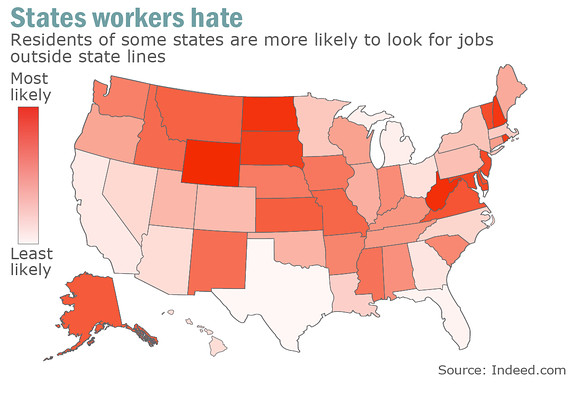 States Workers Want to Escape 2014