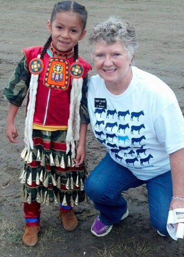 """Having an amazing time and meeting wonderful people at the Eagle Butte Powwow!"""