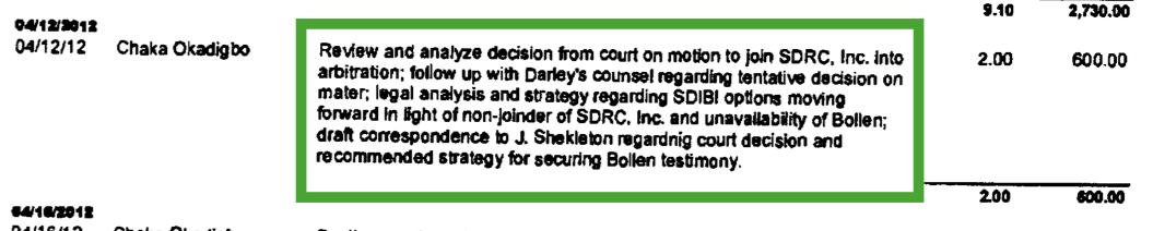 Garcia Calderón Ruíz invoice #5446, 2012.05.21, excerpt. (Click to enlarge.)