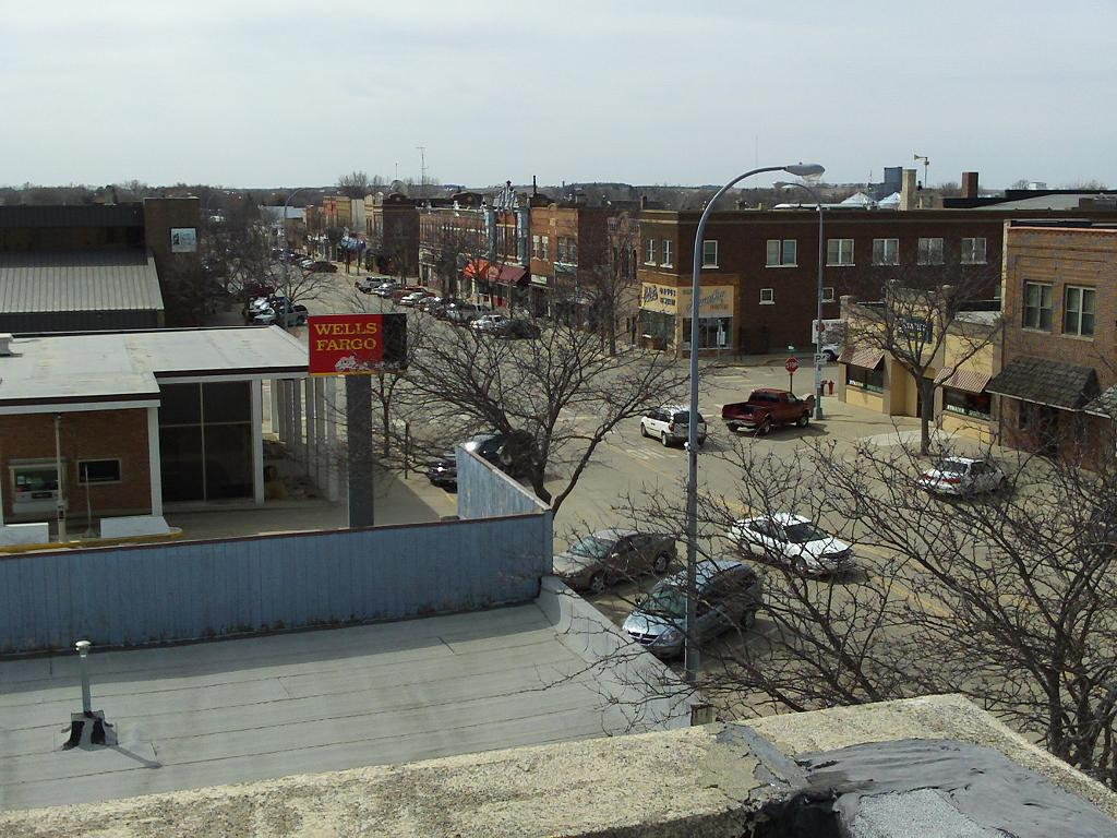 View SW from Masonic Temple roof, April 2010
