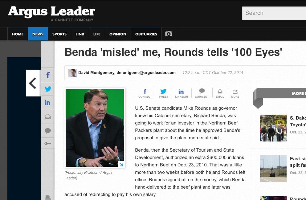 Earlier online headline, screen cap of Google Cache version of Montgomery's Rounds-Benda story, 2014.10.22 00:24 CDT