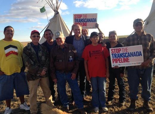 Rick Weiland at Keystone XL protest camp, Ideal, South Dakota, 2014.10.17.