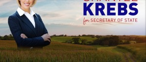 Clip from Shantel Krebs campaign banner, Twitter, 2014