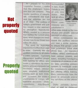 Rep. Peggy Gibson, column, Huron Plainsman, 2014.12.03