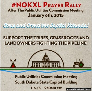 NoKXL Rally, State Capitol, Pierre, South Dakota, January 6, 2015, 9:30 a.m.