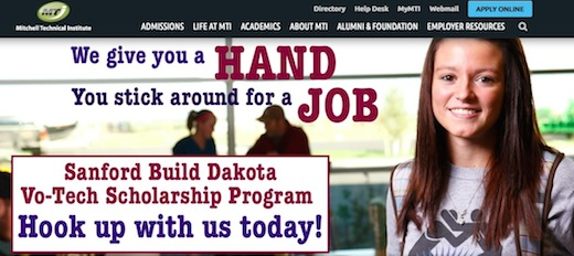 First draft, Sanford Build Dakota Vo-Tech Scholarship ad