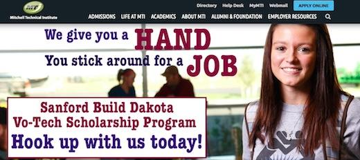 First draft, Sanford Build Dakota Vo-Tech Scholarship ad