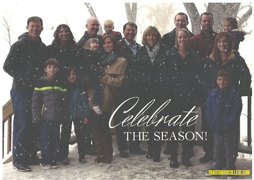 Mike Rounds Christmas card, December 2014, posted by Dakota War College.