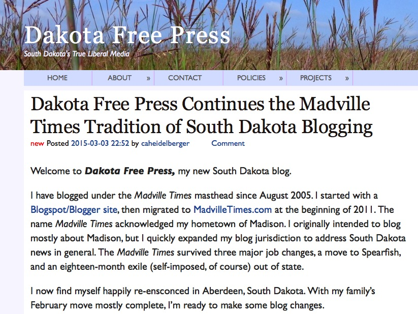 Dakota Free Press screen cap